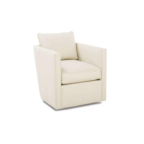 Rothko Leather Swivel Chair