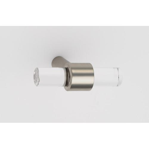 Acrylic Contemporary Knob A860-45 - Polished Nickel