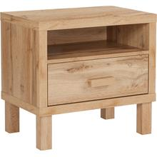 See Details - Heritage Collection 1 Drawer Nighstand with Open Storage in Rustic Oak