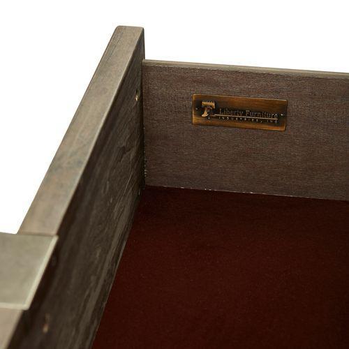 Liberty Furniture Industries - Queen Platform Bed, Dresser & Mirror, Night Stand