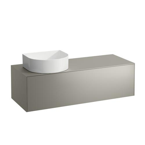 White Matte & Nero Marquina Drawer element, 1 drawer, matching bowl washbasins 812340, 812341, 812342, 812343, cut-out left