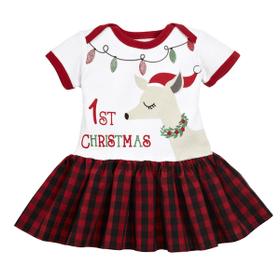 Diaper Shirt Tutu - 1st Christmas