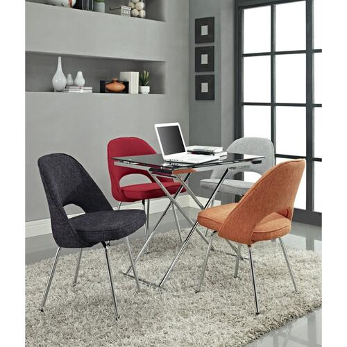 Cordelia Dining Fabric Side Chair in Orange