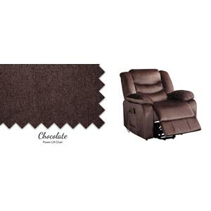 "Urbino Chocolate Lift Chair 39""L x 40.5""D x 39""H Weight Capacity 250 LB - Weight Capacity 250 LB"