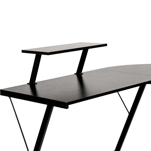 """Flash Furniture - L-Shaped Desk 71.5"""" Computer Corner Desk, Home Office Corner Desk, Gaming Desk, Space Saving, Easy to Assemble, Black\/Black"""