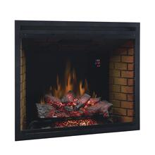 "39"" Traditional Built-In Electric Fireplace Insert with Glass Door, Dual Voltage Option"