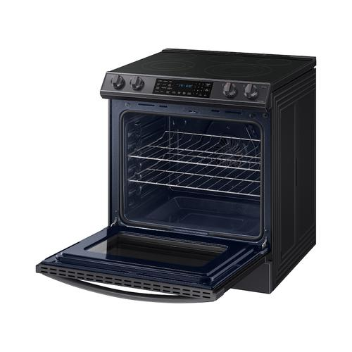 6.3 cu. ft. Front Control Slide-in Electric Range with Air Fry & Wi-Fi in Black Stainless Steel