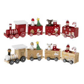 Christmas Train Figurines - Sm. (6 set ppk.)