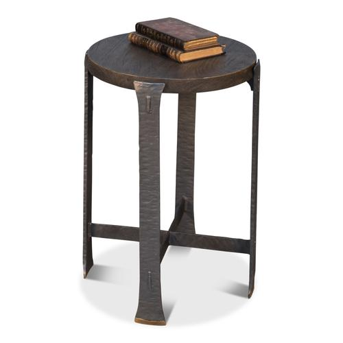 Forged Slats Side Table/Moleskin