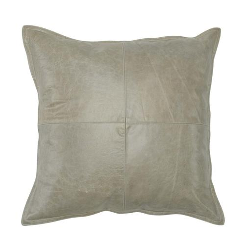 See Details - Leather Pike Gray Pillow