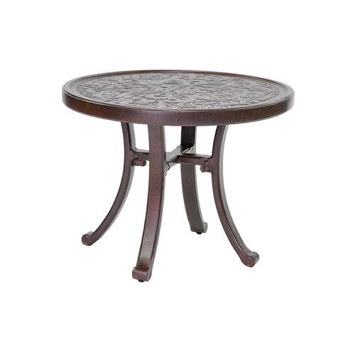 "Castelle - 26"" Vintage Elliptical Occasional Table"