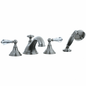 Asbury - 4pc Roman Tub Filler Trim - Polished Nickel