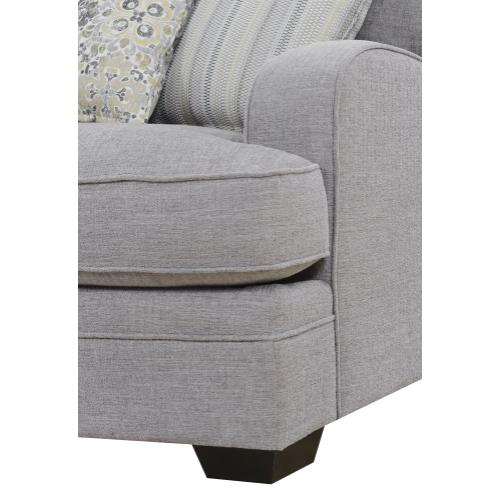 Analiese 3pc Lsf Chaise Sectional Gray