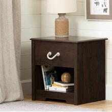 1-Drawer Nightstand - End Table with Storage - Brown Oak