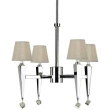 AF Lighting 6680 4-Light Chandelier- Cream Shades, 6680-4H