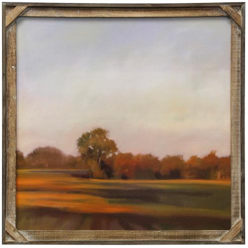 Style Craft - Harvest Fields  Textured Framed Print  30in X 30in