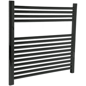 """Denby Towel Warmer 27"""" x 30"""" Hydronic Black Product Image"""
