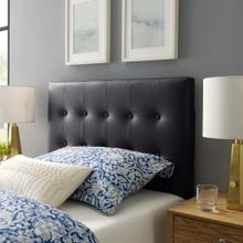 Emily Twin Upholstered Vinyl Headboard in Black