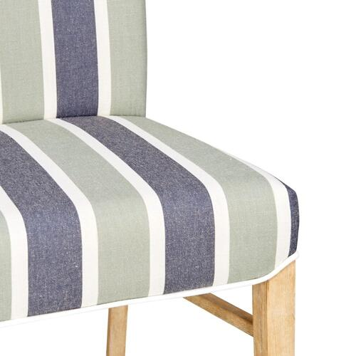 Product Image - Milton Fabric Dining Side Chair NWO Legs, Hurley Stripe Blue