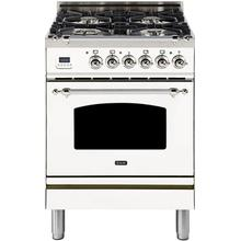 24 Inch White Dual Fuel Natural Gas Freestanding Range