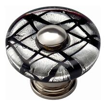 Eclipse Glass Round Knob 1 1/2 Inch - Polished Chrome