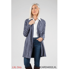 Finishing Touch Striped Cardigan - L/XL (4 pc. ppk.)
