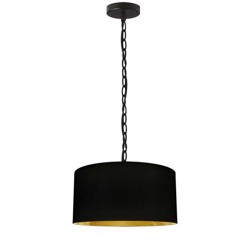 Product Image - 1lt Braxton Small Pendant, Blk/gld Shade, Blk