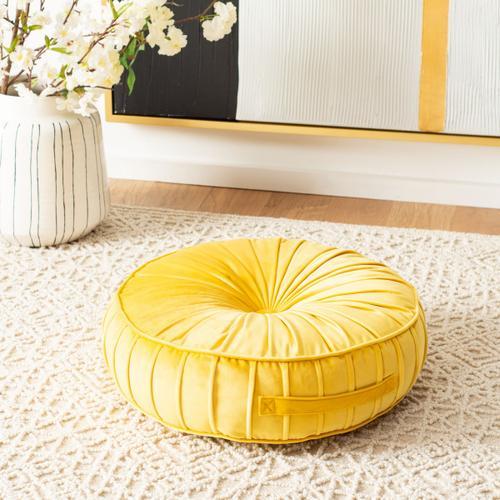 Clary Floor Pillow - Mustard