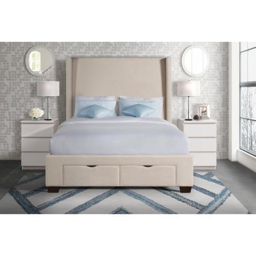 Elements - Magnolia King Upholstered Storage Bed