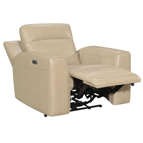 Doncella Dual-Power Leather Recliner