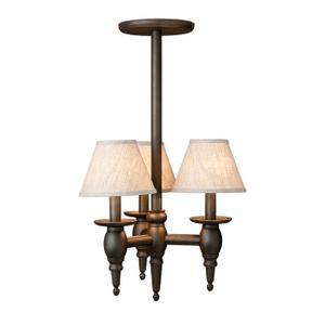 Three-Arm Towne Chandelier - C525 Silicon Bronze Brushed with Black Product Image