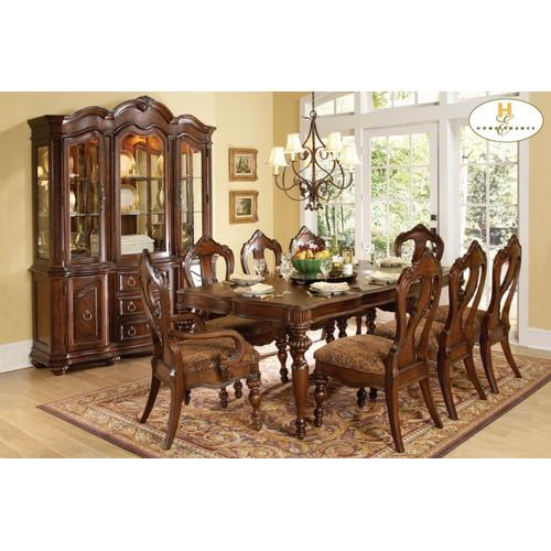 9PC SET (Table with 6 Side Chairs and 2 Arm Chairs)