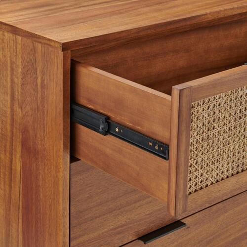 Caine Rattan Chest 3 Drawers, Brown