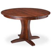 """View Product - Grace Single Pedestal Table, 38"""" Round (Max 2 Leaves - Butterfly Leaf Not Available) / 18"""" Sliding Butterfly Leaf"""