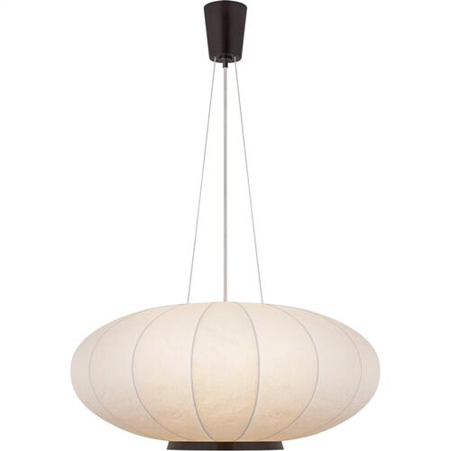 Visual Comfort BBL5123BZ-RP Barbara Barry Moon 1 Light 36 inch Bronze Hanging Shade Ceiling Light, Large