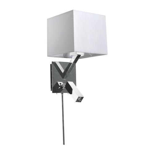 Product Image - Wall Sconce W/reading Lamp, PC Finish