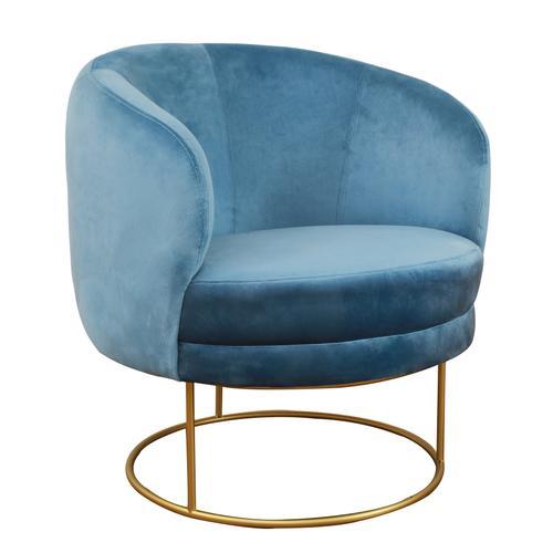 Tov Furniture - Bella Blue Velvet Chair