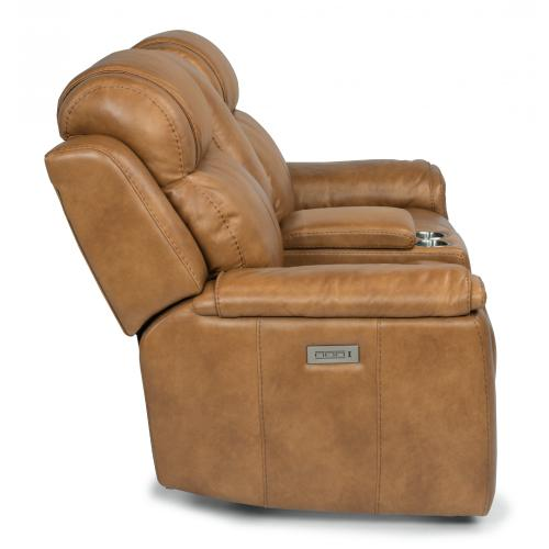 Kingsley Power Reclining Loveseat with Console & Power Headrests & Lumbar