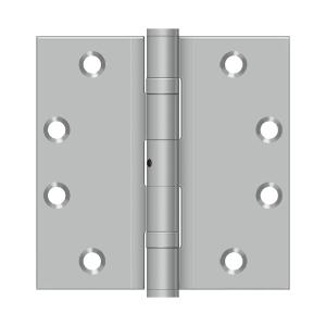"4 1/2""x 4 1/2"" Square Hinge - Brushed Stainless"