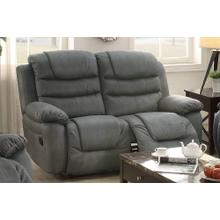 Livia Reclining/Motion Loveseat Sofa or Recliner, Slate Grey Breathable Leatherette
