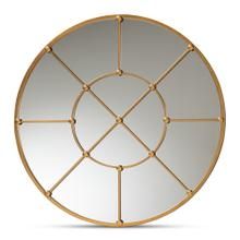 See Details - Baxton Studio Ohara Modern and Contemporary Gold Finished Metal Accent Wall Mirror