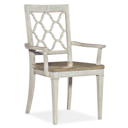 Montebello Wood Seat Arm Chair