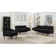 Betty Black Sofa, Loveseat & Chair, U7451