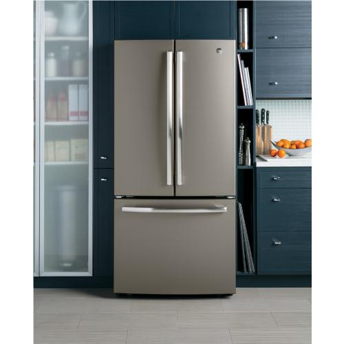 GE 18.6 Cu. Ft. Counter-Depth French-Door Refrigerator Slate - GWE19JMLES