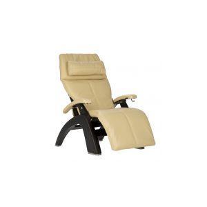Perfect Chair ® PC-420 Classic Manual Plus - Matte Black - Ivory Premium Leather