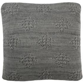 Affinity Knit Pillow - Dark Grey