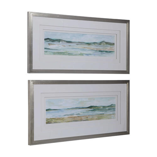 Uttermost - Panoramic Seascape Framed Prints, S/2