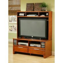 Pecan Plasma TV Stand - Base