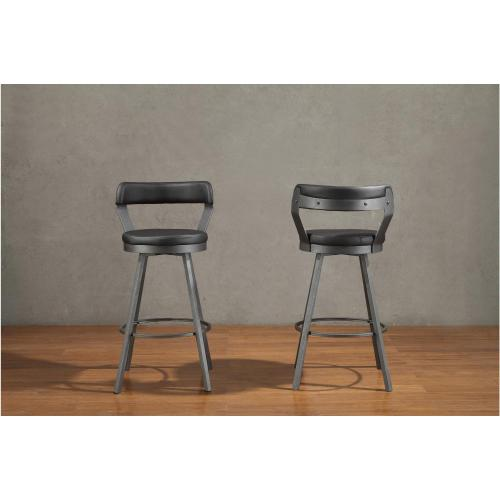 "Appert Swivel 29"" Bar Height Black Stool"