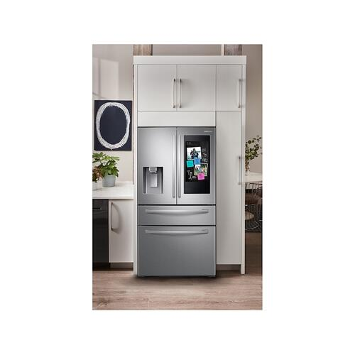 "22 cu. ft. 4-Door French Door, Counter Depth Refrigerator with 21.5"" Touch Screen Family Hub™ in Stainless Steel"